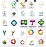 Grupo de elementos de marcagem com ferro quente do logotipo da empresa Imagem de Stock Royalty Free