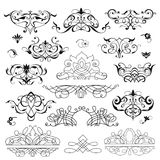 Grupo de elementos decorativos Ilustração Stock