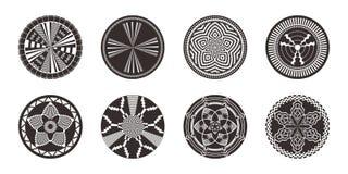Grupo de elementos decorativos africanos Cópia tribal ilustração royalty free