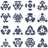 Grupo de elementos decorativos do logotipo Imagens de Stock