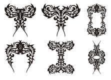 Grupo de elementos decorativos dos pássaros Imagem de Stock