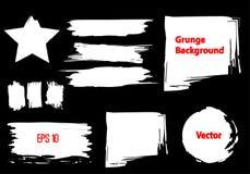 Grupo de elementos do curso do Grunge ilustração stock
