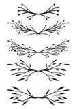 Grupo de elementos do design floral para o convite Fotografia de Stock Royalty Free