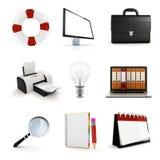 grupo de elementos do escritório 3d Imagem de Stock