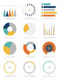 Grupo de elementos do infographics Fotografia de Stock Royalty Free