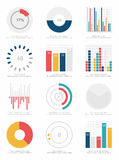 Grupo de elementos do infographics Foto de Stock Royalty Free