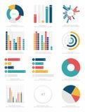 Grupo de elementos do infographics Imagem de Stock Royalty Free