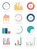 Grupo de elementos do infographics Foto de Stock Royalty Free