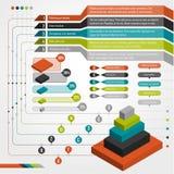 Grupo de elementos do infographics Fotos de Stock Royalty Free
