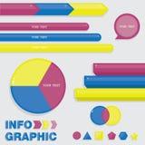 Grupo de elementos do infographics Fotos de Stock