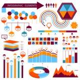 Grupo de elementos 01 do informação-gráfico do vetor Foto de Stock Royalty Free