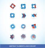Grupo de elementos do logotipo do vermelho azul da empresa ilustração do vetor