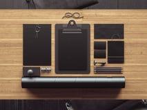Grupo de elementos do negócio do vintage 3d rendem Foto de Stock