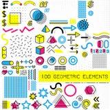 Grupo de elementos do projeto de memphis, molde para seu projeto, animação, e anúncio, propaganda, bandeira comercial ilustração stock