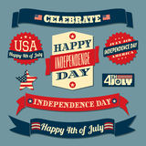 Grupo de elementos do projeto do Dia da Independência Imagem de Stock Royalty Free