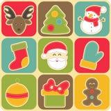 Grupo de elementos do projeto do Natal para bebês ilustração royalty free