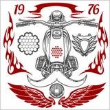 Grupo de elementos do vetor da motocicleta Foto de Stock Royalty Free