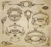 Grupo de elementos do vintage Fotografia de Stock Royalty Free