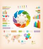 Grupo de elementos dos gráficos da informação. ilustração royalty free