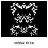 Grupo de elementos florais decorativos da ilustração bonita do vetor do projeto Fotografia de Stock Royalty Free