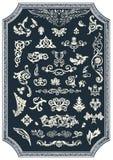 Grupo de elementos florais do vetor para o projeto Ornamento do vintage Imagens de Stock Royalty Free