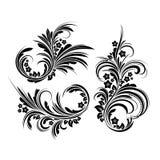 Grupo de elementos florais elegantes. Vetor ilustração stock