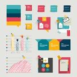 Grupo de elementos infographic. Fotos de Stock