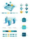Grupo de elementos infographic. Foto de Stock Royalty Free