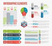 Grupo de elementos infographic coloridos do negócio Molde para a apresentação, carta, gráfico Fotografia de Stock