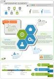 Grupo de elementos infographic detalhado com gráficos e cartas Imagem de Stock