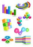 Grupo de elementos infographic do negócio Fotos de Stock