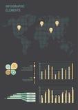 Grupo de elementos infographic do negócio Foto de Stock