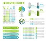 Grupo de elementos infographic do negócio Molde para a apresentação, carta, gráfico Imagem de Stock Royalty Free