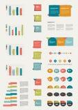 Grupo de elementos infographic lisos. Foto de Stock Royalty Free