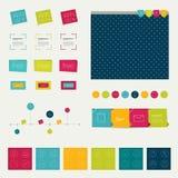Grupo de elementos infographic lisos simplesmente minimalistic. Fotografia de Stock Royalty Free