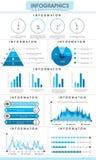Grupo de elementos infographic para seus relatórios comerciais Fotos de Stock Royalty Free