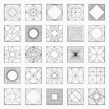 Grupo de elementos ou de ícones geométricos Imagem de Stock