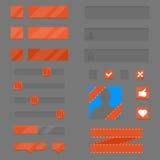 Grupo de elementos para jogos e apps Fotografia de Stock