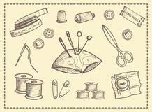 Grupo de elementos para ofícios Imagens de Stock