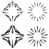 Grupo de elementos pontilhados ilustração royalty free
