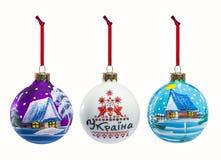 Grupo de elementos populares da decoração do Natal isolados no CCB branco Imagens de Stock Royalty Free