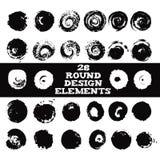 Grupo de 28 elementos redondos do projeto Fotografia de Stock Royalty Free