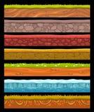 Grupo de elementos sem emenda da paisagem ilustração stock