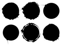 Grupo de elementos textured, ásperos e sujos isolados no branco EL ilustração do vetor
