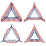 Grupo de elementos triangulares do guilloche para certificados do projeto, diplomas, comprovantes ou cartões de banco Imagem de Stock Royalty Free