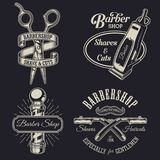 Grupo de emblemas do barbeiro do vintage Imagem de Stock Royalty Free