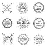Grupo de emblemas do esboço Fotografia de Stock Royalty Free