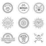 Grupo de emblemas do esboço Foto de Stock Royalty Free