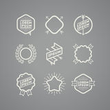 Grupo de emblemas do moderno Fotografia de Stock Royalty Free