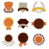 Grupo de emblemas do vintage Fotografia de Stock